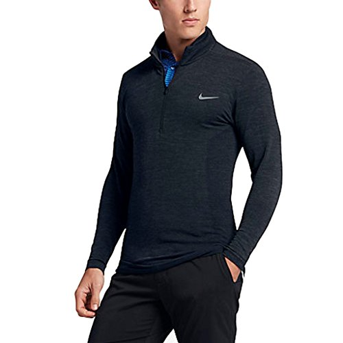 Nike Seamless Wool Half-Zip Mens Golf Shirt $150 (010) Medium by NIKE