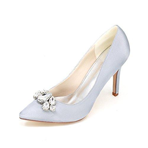 puntiagudo plata plataforma de vestido para Tacones de fuera altos mujer noche YC 0608 L personalizada novia de 01B de la gR0UqSwzx