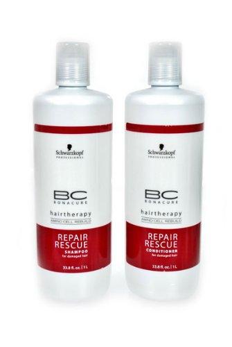 Schwarzkopf Bonacure Hairtherapy Amino Cell Rebuild Repair Rescue Shampoo and Conditioner, 1 L Each,  Duo Set