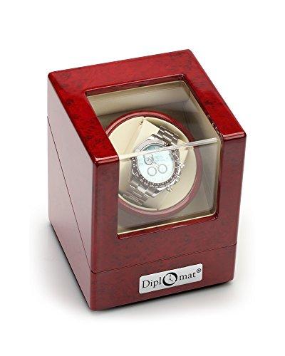 Diplomat 31-405 Cherry Wood Single Watch Winder (Orbita Winder Battery Watch)