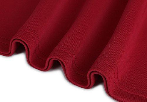 Coolred donne Rosso Linea Tasca Vestito Manica Con Vino Lunga Zip Palangaro Una FfwdqFr