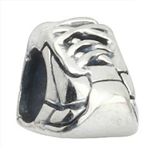 Running Sneaker Runner Shoe 925 Sterling Silver Charm Fit European Bead (Pandora Charms Sneaker)