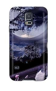 [xIPQHRS1381rCRQv]premium Phone Case For Galaxy S5/ Angelina Jolie Purple Tpu Case Cover