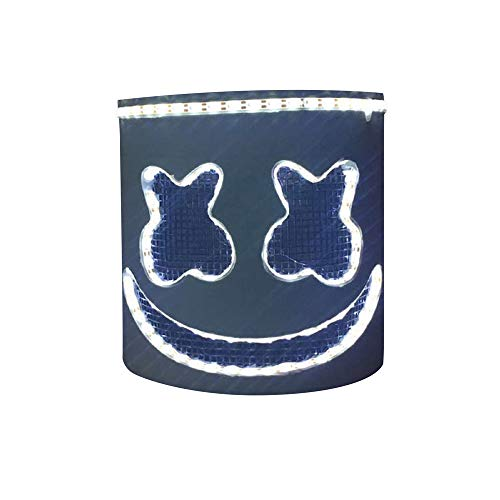 MZS Tec DJ Led Mask, Music Festival Helmets Novelty Costume Party Mask Rubber Latex Halloween Christmas DJ -
