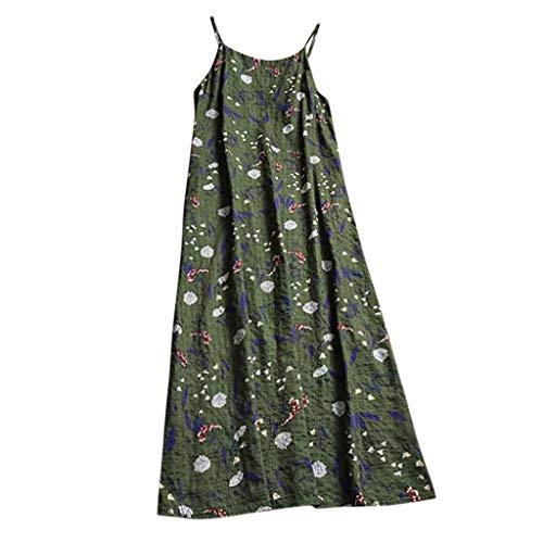 Keliay Dress for Women Summer, Women Casual Long Maxi Sundress Beach Party Boho Floral Print Dress Green by Keliay (Image #1)