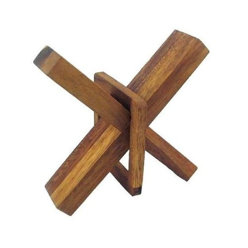 Crazy X - Brain Teaser Wooden Puzzle Winshare Puzzles and Games