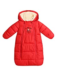 Aivtalk Baby Warm Sleeping Bag Newborn Hooded Romper Winter Wearable Blanket
