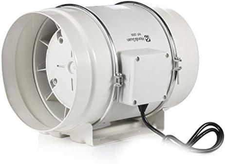 Hon&Guan 200mm Ventilador Extractor de Aire Alto Rendimiento con ...