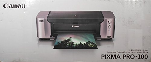 "Canon PIXMA PRO-100 Color Professional Inkjet Photo Printer + Canon Luster Photo Paper, 13"" x 19"" (50 Sheets)"
