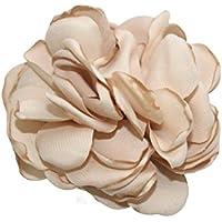 Champagne/Gold Rose Petals Flower Hair Clips 2 pack Alligator clips