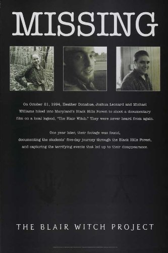 Blair Project Poster Witch Movie - The Blair Witch Project POSTER Movie (11 x 17 Inches - 28cm x 44cm) (1999) (Style D)
