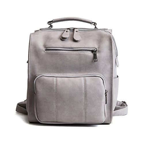 Fanshu - Bolso mochila para mujer, marrón (Marrón) - SB36 Gris