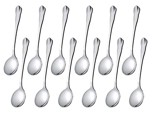 Demitasse Spoons Set of 12, Tea Coffee Espresso Spoons, LIANYU Stainless Steel Small Spoons, Mini Dessert Appetizer Tasting Spoons, 4.5-Inches, Attached Carry Case