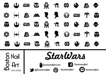 Amazon Star Wars Waterslide Nail Decals 50pc Beauty