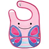 Skip Hop Zoo Tuck Away Bib, Blossom Butterfly