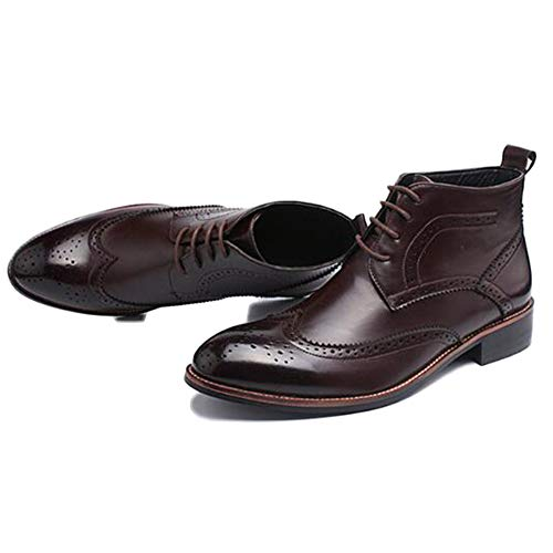 Blocco Safety Brogue Scamosciata Alto Brown Punta Pelle Classico Boots Chelsea Di In Oxblood Stivali Alta A Uomo Scarpe Intagliata nI0YzwUq