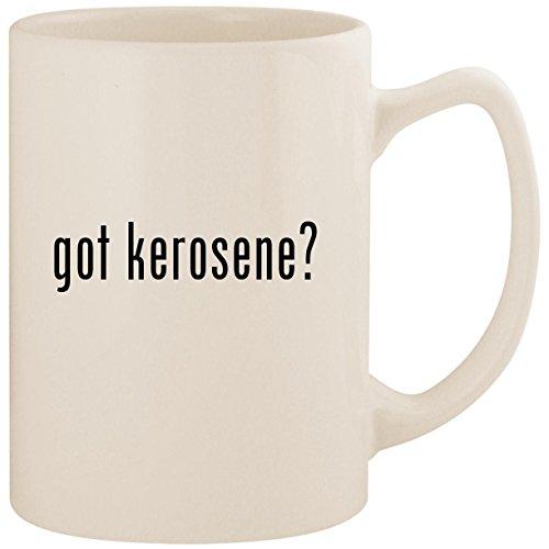 got kerosene? - White 14oz Ceramic Statesman Coffee Mug Cup (Fire Ceramic Kerosene Starter)