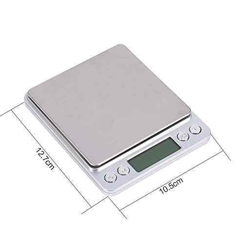 Lazmin Digital Food Weight Scale Grams and Oz, Multifunctional 3000g0.1g Kitchen Scale with Stainless Steel Platform