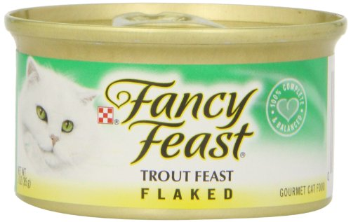 Fancy Feast Cat Food Flaked Trout Feast, 3 oz