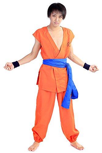 [De-Cos DBZ DragonBall Z Cosplay Costume Kakarot Son Goku Training Uniform Set V4] (Dragon Ball Z Costume For Adults)