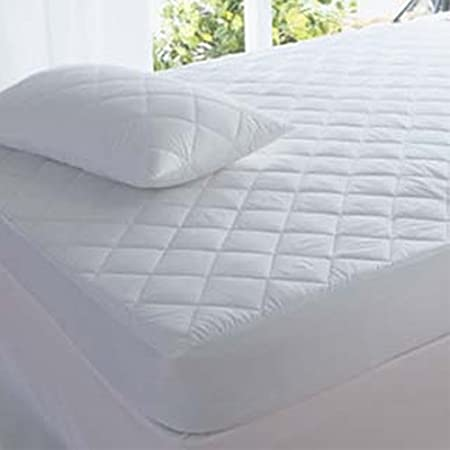 QUILTED MATTRESS PROTECTOR FITTED BED COVER SINGLE SMALL DOUBLE SUPER KING SIZE
