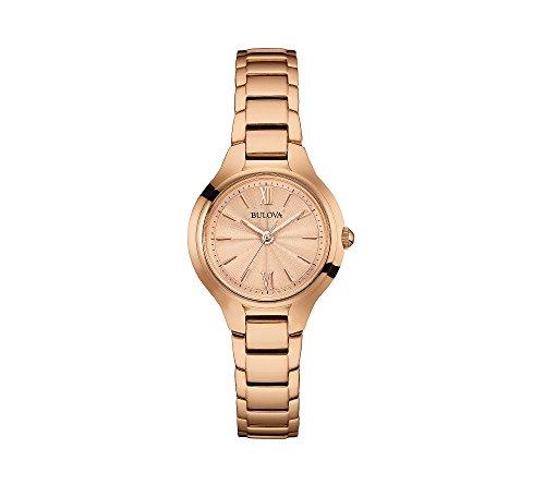 Bulova Women's 28mm Rose Goldtone Stainless Steel Bracelet Watch