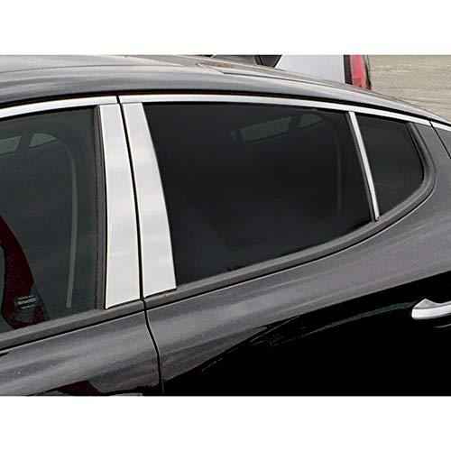 Pillar Trim Piece Post 6 - Elite Auto Chrome 6-Piece Pillar Post Trim fits 2018 Kia Stinger SUV [Stainless Steel]