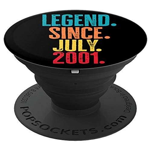 Retro Legend Since July 2001 Birth Year Legendary Star Gifts PopSockets Grip and Stand for Phones and Tablets