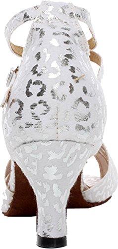 Salabobo AQQ-6187 Womens Wedding Party Tango Peep Toe Customize Heel Cloth Dance Shoes golden FFdqVI