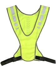 Qqmora LED veiligheidsvest, ultra-ademende LED Running Vest Sport Design Mesh Doek voor Cleaner voor Werknemer