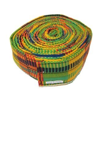 """Djembe Drum Standing Strap - 2""""x14' Adult Size - Deluxe Kente Print"""