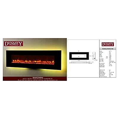 Dynasty Contemporary Electric Fireplace LED Wall Mount - 78 in.