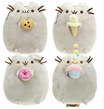 Image of: Transparent 4pcslot Kawaii Brinquedos Pusheen Cat Cookie Icecream Stuffed Plush Animals Toys Dolls For Kids Gift Animals Figures Amazon Canada Amazonca 4pcslot Kawaii Brinquedos Pusheen Cat Cookie Icecream Stuffed Plush