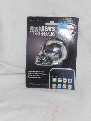 HYPE Silver Skeleton FlashBEATS Stereo Speakers ~ Flashing