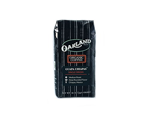 Oakland Coffee Works Organic Single-Origin Whole Bean, Guapa Chiapas, 12 Ounce
