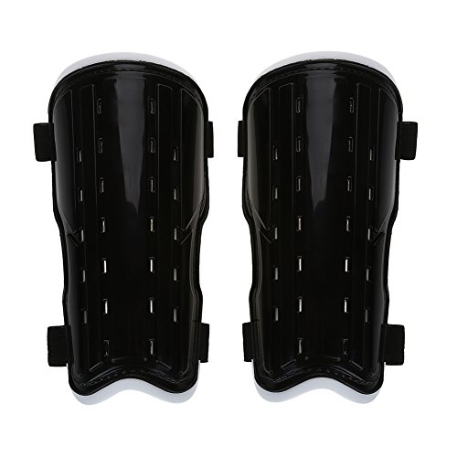 VGEBY 1Pair Soccer Shin Guard Soccer Shin Pad Perforated Breathable Soccer Shin Guards (Black)