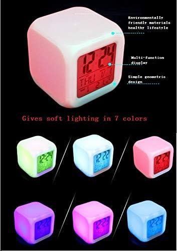 HHKX100822 Ark Survival Plan LED Coloriant Color/é Quad Bell Alarm Clock Creative Gift Horloge H en