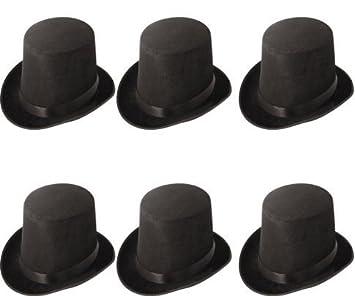 Black Felt Velour Bowler Hat Victorian Hen Do Stag Party Fancy Dress Costume