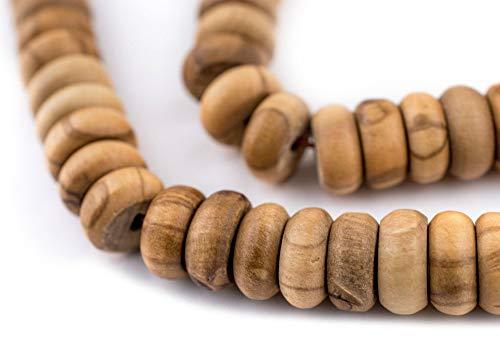 99 Rondelle Olive Wood Arabian Prayer Beads (10mm), Islamic Tasbih, Ramadan Gift, Middle Eastern Beads - The Bead ()