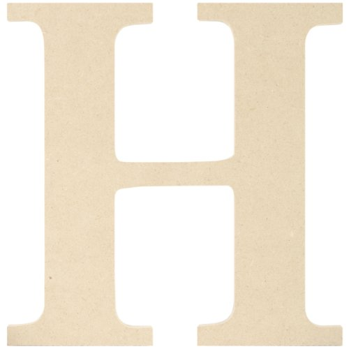 MPI MDF Classic Font Wood Letters and Numbers, 9.5-Inch, Letter H ()