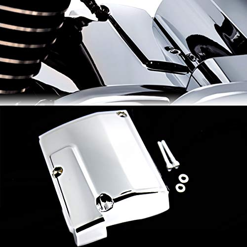 (Chrome Transmission Top Cover For Harley M8 Touring 2017-2018 Street Glide Road)
