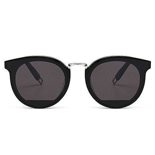 Gafas vacaciones Negro Marco sol mujer de de de acetato de para lente Fibra Gafas gato Ojos conducción de UV Fiesta Nylon Color de Protección Negro sol UwBqpnn4