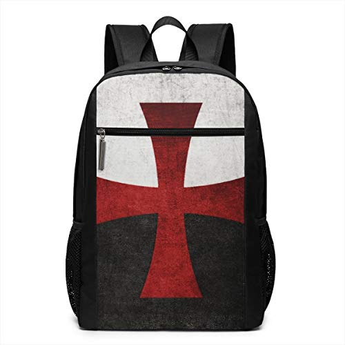 - Laptop Backpack And Flag With Red Iron Cross 17 Inch Travel Gaming Bag School Travel Backpack Casual Daypack