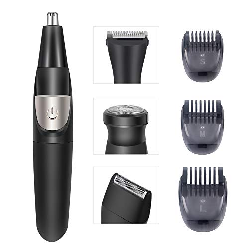 Nose Hair Trimmer Beard Trimmer for Men 4 in 1 Grooming Kit Multifunctional Trimmer Hair Trimmer Sideburns Trimmer Foil Shaver 3 Limit Combs