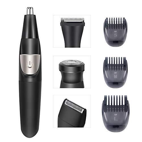 Nose Hair Trimmer Beard Trimmer for Men 4 in 1 Grooming Kit Multifunctional Trimmer Hair Trimmer Sideburns Trimmer Foil Shaver 3 Limit Combs