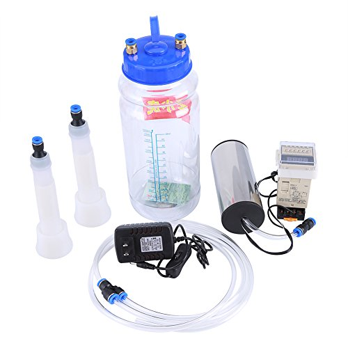 Price comparison product image 2L Portable Electric Milking Machine Milker Cow Sheep Goat Milking Machine Manual Pump One Quart One Teat Milker Claw Milking Teat Cups Goat Sheep Milking Machine (Cow Milking Machine)