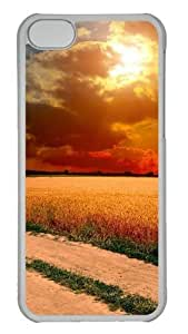 Customized Case Landscapes country road PC Transparent for Apple iPhone 5C by icecream design