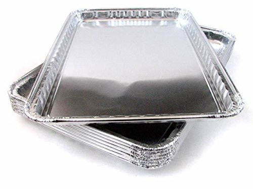 Pack of 15 Aluminum Square Baking Pans - Disposable Foil Cooking Tins - Ideal for Brownie, Coffee Cakes, Side Dishes – Use as Portable Food Storage Container - Standard Size 16