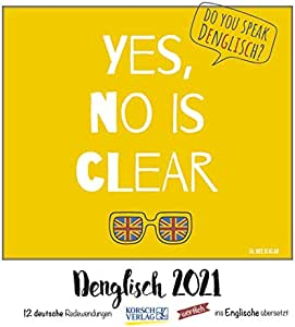 Denglisch – Calendario 2021 – Korsch Verlag – Typo-Art