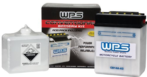 (WPS Western Power Sports Conventional 12V Heavy Duty Battery With Acid Pack)